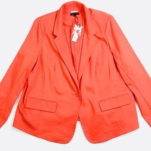 Women's Lane Bryant Lined Blazer Coral Size 26